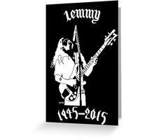 "RIP Ian ""Lemmy"" Kilmister (Motorhead) Greeting Card"