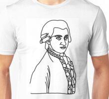 Wolfgang Amadeus Mozart One Line Unisex T-Shirt