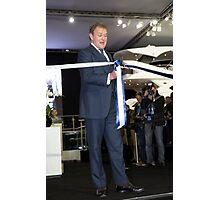 Hugh Bonneville British actor opens the Sunseeker stand ... Photographic Print