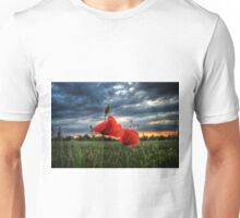 Poppies in the Rain Unisex T-Shirt