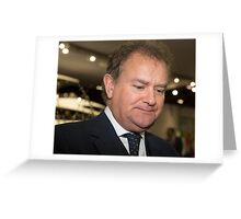 Hugh Bonneville British actor from Downton Abbey  Greeting Card