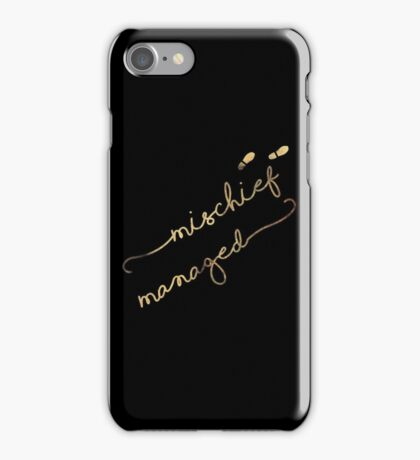 Mischief Managed (black) iPhone Case/Skin