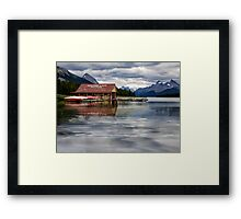 Maligne Lake - Jasper National Park Framed Print