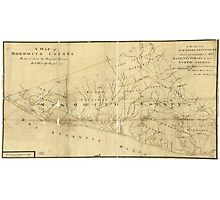 Map of Monmouth County New Jersey (1781) Photographic Print