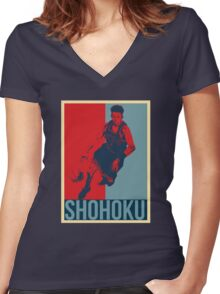 Miyagi - Slam Dunk Women's Fitted V-Neck T-Shirt