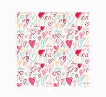Hand painted hearts pattern Classic T-Shirt