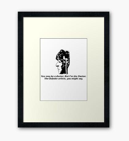 Doctor #4 (Doctor Who) Framed Print