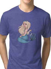 Blue Mermaid Tri-blend T-Shirt