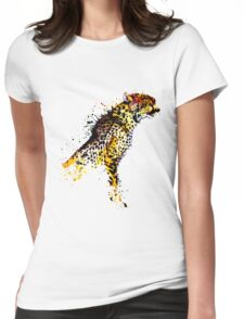 Tumblr Abstract Cheetah Womens Fitted T-Shirt