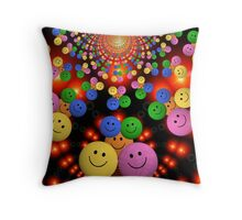 Bright colourful smiley emojis Throw Pillow
