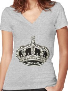 Trademark vintage crown Women's Fitted V-Neck T-Shirt