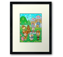 Animal Crossing Characters Framed Print