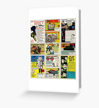 Vintage Comic Ads Greeting Card