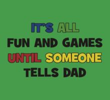 Fun and Games with Dad Baby Tee