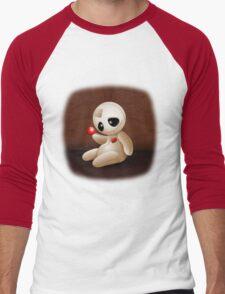 Voodoo Doll Cartoon in Love Men's Baseball ¾ T-Shirt
