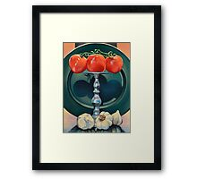Tomato and Garlic Framed Print