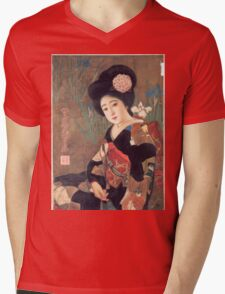 Vintage poster - Sakura Beer Mens V-Neck T-Shirt