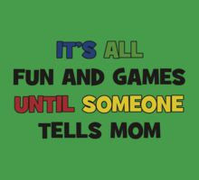 Fun and Games with Mom Kids Tee
