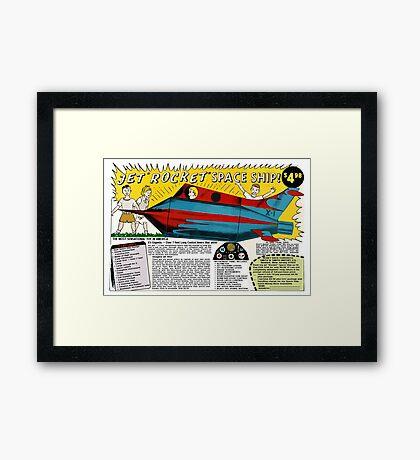 Jet Rocket Space Ship Comic Book Ad Framed Print
