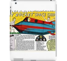 Jet Rocket Space Ship Comic Book Ad iPad Case/Skin