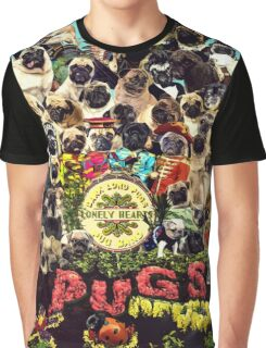 SGT PUGS LONELY HEARTS PUG BAND Graphic T-Shirt