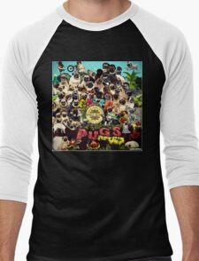 SGT PUGS LONELY HEARTS PUG BAND Men's Baseball ¾ T-Shirt