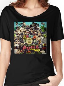 SGT PUGS LONELY HEARTS PUG BAND Women's Relaxed Fit T-Shirt