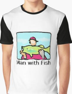 Man with Fish Graphic T-Shirt