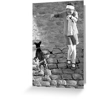 Paris - Wet Dog Greeting Card