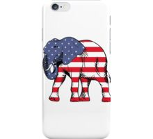 Patriotic elephant iPhone Case/Skin
