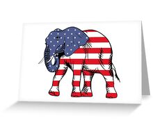 Patriotic elephant Greeting Card