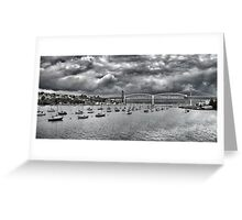 Storms brewing Greeting Card