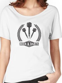 Beer & Darts Women's Relaxed Fit T-Shirt
