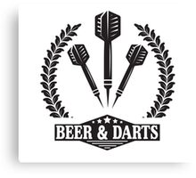 Beer & Darts Canvas Print