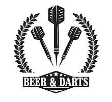 Beer & Darts Photographic Print