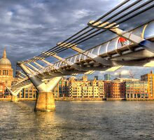 The Millennium Bridge London by DavidHornchurch