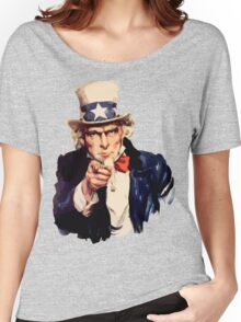 Uncle sam i want you watercolor Women's Relaxed Fit T-Shirt