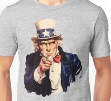 Uncle sam i want you watercolor Unisex T-Shirt