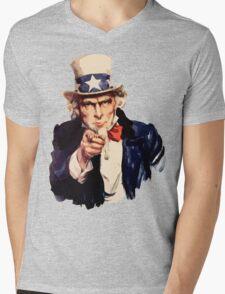 Uncle sam i want you watercolor Mens V-Neck T-Shirt