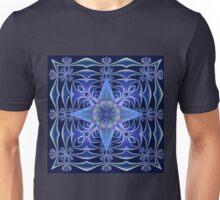 Fractal Web in Blue Unisex T-Shirt
