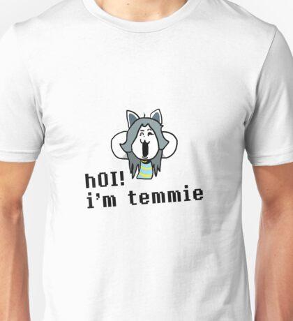 hOI! i'm temmie Unisex T-Shirt