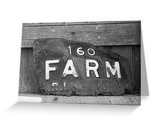 Rusty Farm Plate Greeting Card