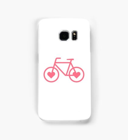 Pink Bicycle Love - Fixie Hearts Samsung Galaxy Case/Skin