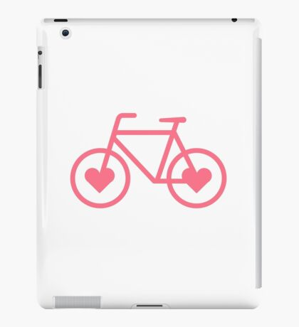 Pink Bicycle Love - Fixie Hearts iPad Case/Skin