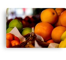 Fruit Market Canvas Print