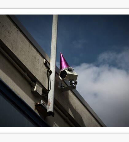 George Orwell's Birthday Party Purple Sticker