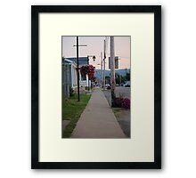 Small Town Street Framed Print