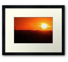 Sunset In Iowa Framed Print