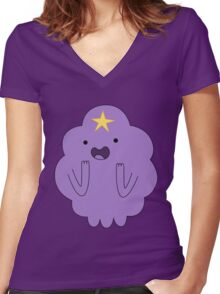 LUMPY SPACE PRINCESS Women's Fitted V-Neck T-Shirt