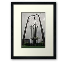 Power Station and Lines Framed Print